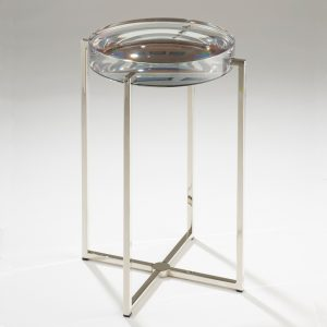 Lens Coffee Table cast in clear resin